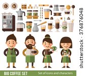set of characters and icons in... | Shutterstock .eps vector #376876048