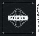 floral line emblem template.... | Shutterstock .eps vector #376876354