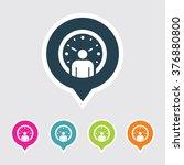 very useful editable clock  ... | Shutterstock .eps vector #376880800