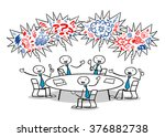cartoon business people cursing ... | Shutterstock . vector #376882738