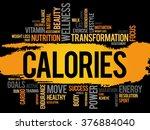 calories word cloud  fitness ... | Shutterstock . vector #376884040