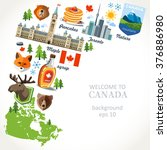 canada background  | Shutterstock .eps vector #376886980