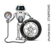 robot measures the pressure in... | Shutterstock . vector #376890340