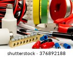 electrician tools and... | Shutterstock . vector #376892188