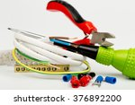 electrician tools and... | Shutterstock . vector #376892200
