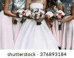 Cheerful Bride   Bridesmaids...