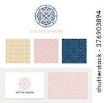 vector set of graphic design... | Shutterstock .eps vector #376903894