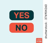 yes or no button icon. vector...