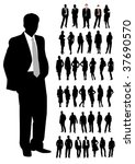 set of business man and woman...   Shutterstock . vector #37690570