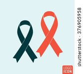 ribbon icon. ribbon awareness...