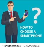 how to choose a smartphone on... | Shutterstock .eps vector #376906018