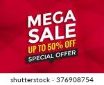 mega sale banner design ... | Shutterstock .eps vector #376908754