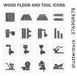 wood floor and tool vector icon ... | Shutterstock .eps vector #376909678