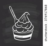 a cup of ice cream or frozen... | Shutterstock .eps vector #376917868