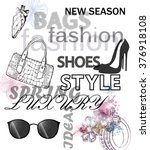 fashion vector background ... | Shutterstock .eps vector #376918108