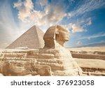 sphinx giza  egypt. | Shutterstock . vector #376923058
