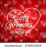 8 march  womens day logo on... | Shutterstock .eps vector #376924354