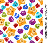 colourful jelly characters with ...