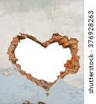 Heart Shaped Hole In Old Brick...