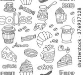 Vector Seamless Coffee Pattern...