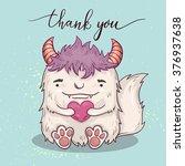rd template with cartoon... | Shutterstock . vector #376937638
