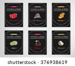 eco foods.hand drawn sketch... | Shutterstock .eps vector #376938619