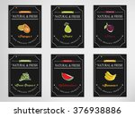eco foods.hand drawn sketch... | Shutterstock .eps vector #376938886