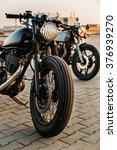 vintage custom motorbike cafe... | Shutterstock . vector #376939270