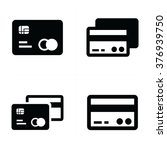 credit card icons  | Shutterstock .eps vector #376939750