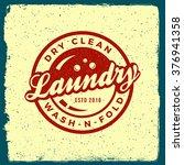 laundry emblem. logotype... | Shutterstock .eps vector #376941358