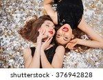 top view of sensual attractive... | Shutterstock . vector #376942828