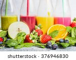 close up of colorful smoothies... | Shutterstock . vector #376946830