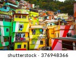 colorful painted buildings of... | Shutterstock . vector #376948366
