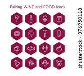 set of vector icons for wine... | Shutterstock .eps vector #376950118