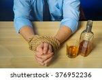 drunk man drinking alcohol at... | Shutterstock . vector #376952236