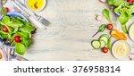 various green organic salad... | Shutterstock . vector #376958314