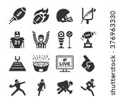 american football icons | Shutterstock .eps vector #376963330