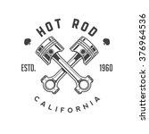 Hot Rod Retro Emblem