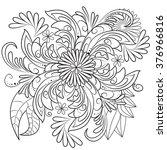 hand drawn zentangle flower... | Shutterstock .eps vector #376966816