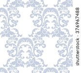 vintage elegant lily flower... | Shutterstock .eps vector #376967488