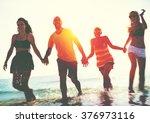 friendship freedom beach summer ... | Shutterstock . vector #376973116