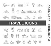 travel icons line black and... | Shutterstock .eps vector #376975930