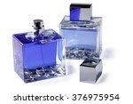 two bottle perfume on white... | Shutterstock . vector #376975954