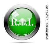 roi icon. internet button on... | Shutterstock .eps vector #376983154