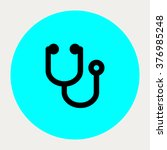 stethoscope icon.medical icons. ... | Shutterstock .eps vector #376985248