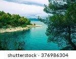 adriatic seaside   rabac... | Shutterstock . vector #376986304