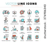 thin line icons set. business... | Shutterstock .eps vector #376986340