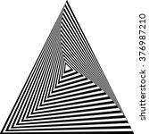 optical illusion.monochrome | Shutterstock .eps vector #376987210