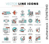 thin line icons set. business... | Shutterstock .eps vector #376987840