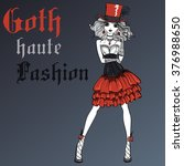 Vector Beautiful Goth Girl...